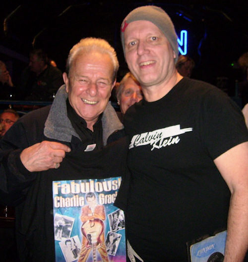 DJ John Blach with 1950s Rock and Roll legend Charlie Gracie at MFN