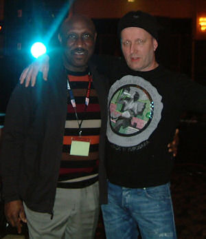 John Blach with Lew Kirton at the Norther soul festival New York USA
