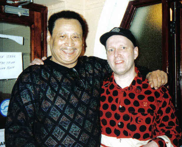 Steve Mancha with dj John Blach at Casino 2 Birmingham 2005